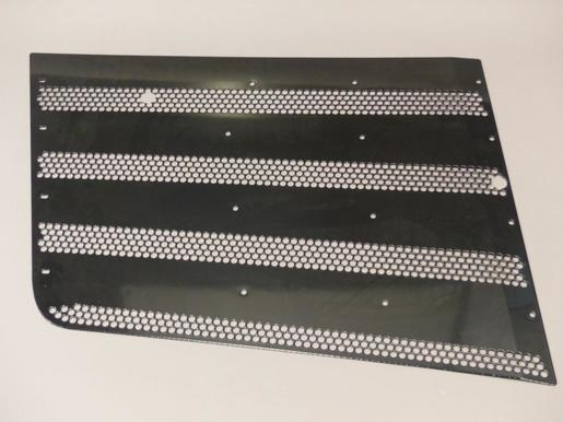 Perforated sheet left lacquered