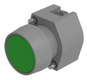Pushbutton-actuator grey/green mom D29