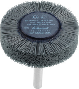 Wheel brushes with shank, silicon carbide (SiC), ⌀ 50 mm, Grit: 320