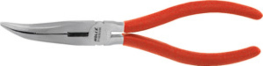 Snipe nose pliers, angled, bright finish, overall length: 160 mm