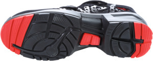 Sandale schwarz/rot uvex 1 x-tended support, S1P, EU-Schuhgröße: 43