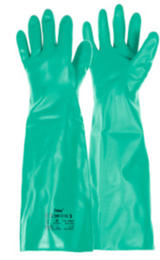 Pair of chemical protection gloves AlphaTec Solvex 37-185, Glove size: 10