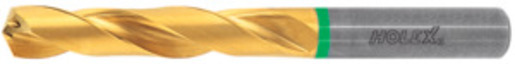 Solid carbide high performance drill plain shank DIN 6535 HA, TiN, ⌀ h7: 9,6 mm or inch