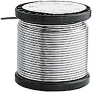 Lead-free solder wire Sn96.5, Ag3.0, Cu0.5, (melt. temp. 217 °C), roll of 250 g, Soldering wire ⌀: 1 mm