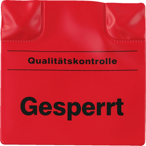 Magnetic marking-pad Gesperrt,, red, plastic, 100x100 mm