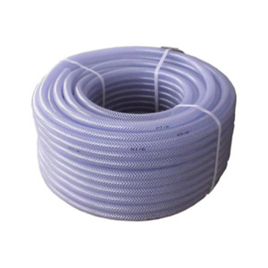 PVC fabric hose with inlay, diam. 10 mm, length 50 m, -20°C to +60°C, transp.
