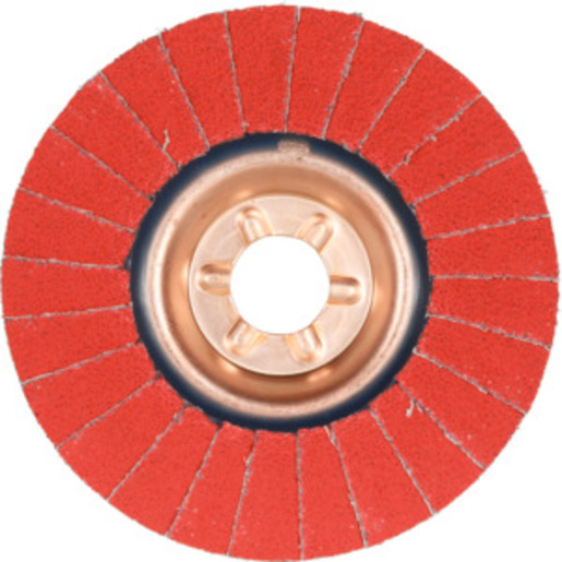 Abrasive flap disc SLTT (CER), flat-dished for stainless steel, 125 mm ⌀, Grit: 60