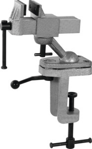 Technician's vice with bench clamp, Jaw width: 75 mm