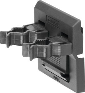 Double tool clip, Clamp ⌀: 15/15 mm