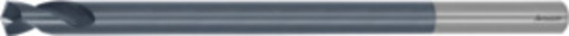 Solid carbide NC spotting drill 142° extra long spiral flutes, TiAlN, ⌀ h6: 3 mm