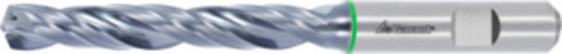 Master Steel SPEED solid carbide drill, Weldon shank DIN 6535 HB, TiAlN, ⌀ h7: 5,6 mm