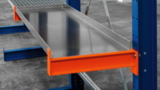 Aluminium tray, Depth: 400 mm