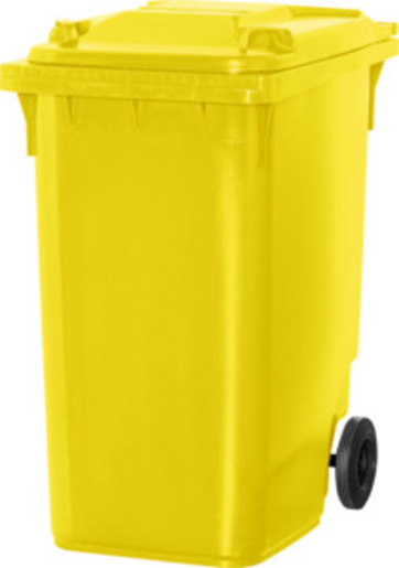Large wheelie bin, yellow, Volume: 360 l