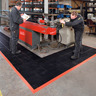 Nitrile rubber floor mat, sealed surface, with safety edges, black / orange, widthxlength: 66X102 cm