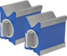 Pair of precision magnetic Vee blocks, LengthxWidth: 80X67 mm