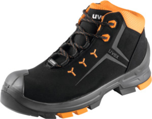 Lace-up boot, black/orange uvex 2, S3, EU shoe size: 51